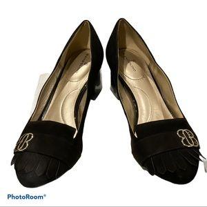 Bandolino Black Suede Block Heels Sz 8.5